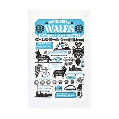 Wonderful Wales Tea Towel