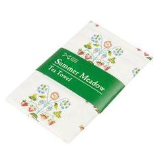 Summer Meadow Cotton Tea Towel Folded